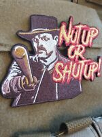 Zombie Land Nut Up or Shut Up VELCRO® BRAND FASTENER PATCH