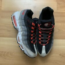 2009 Nike Air Max 95 Premium Size 10 Black Hot Lava Red Infrared OG 609048-065