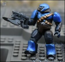 HALO MEGA BLOKS COBALT BLUE COVENANT BRUTE W/ SPIKER RIFLE MINI FIGURE