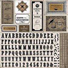 CARTA BELLA ~ ALL HALLOW'S EVE ~ 12 x 12 Alphabet Sticker Sheet ~ AHE4012
