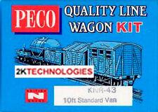 Peco KNR-43 10ft Standard Type Box Van 'N' Gauge WAGON KIT New Boxed - T48 Post