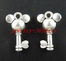 65pcs Tibetan Silver Nice Key Charms 19x11.5mm zn40241