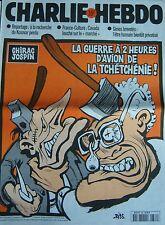CHARLIE HEBDO No 386 NOVEMBRE 1999 RISS CHIRAC JOSPIN  GUERRE A 2 HEURES D AVION