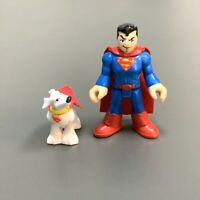 Superman & Dog Set Fisher-Price Imaginext DC Super Friends man 2.5'' figure