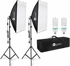Hpusn Softbox Lighting Kit Professional Studio Photography Equipment Continuous