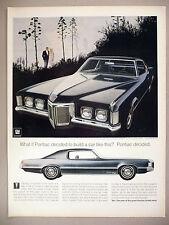 Pontiac Grand Prix PRINT AD - 1968 ~~ 1969 model