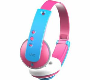 JVC HA-KD9BT-P-E Wireless Bluetooth Kids Headphones - Pink & Blue - Currys