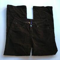 JAG JEANS Cords Pants Stretch Corduroy Womens Straight Leg Brown 10P Petite