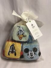 Disney Store Exclusive Mickey Mouse Goofy Donald Duck Soft Blocks for Baby New