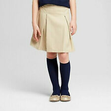 New listing Nwt Girls Size 5 Kids Cat & Jack School Uniform Stretch Pleated Skirt Skort Tan