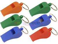 6 Plastic Referee Whistles - Pinata Toy Loot/Party Bag Fillers Wedding/Kids