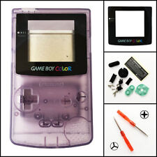 GBC Nintendo Game Boy Color Replacement Housing Shell Screen Lens Atomic Purple