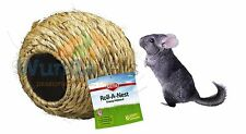 SUPERPET DWARF RABBIT GUINEA PIG NATURAL ROLL A NEST GRASS CAGE HIDE CHEW 60397