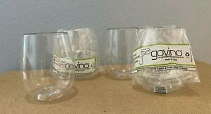 Four Govino GoAnywhereWine/Cocktail Glasses Reusable Shatterproof Recyclable
