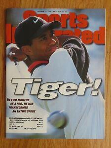 TIGER WOODS 1st Sports Illustrated Magazine THE MASTERS October 28 1996 Magazine