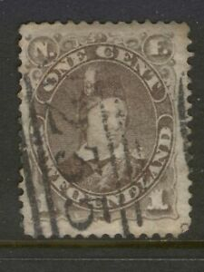 NEWFOUNDLAND 42 1880 1c GREY BROWN PRINCE OF WALES VF WITH 235 CANCEL