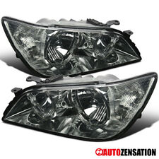 For 01-05 Lexus IS300 Replacement Smoke Front Headlights Driving Head Lamp Pair