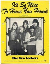 New Seekers The It's So Nice (To Have You Home) 1975 Sheet Music