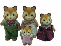Calico Critters Sylvanian Families Robinsons Red Pandas With BABY RETIRED RARE