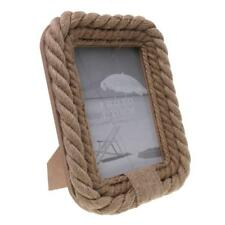 """Photo Picture Frames Rope Country Rustic Shabby Chic Vintage Stand 5 x 7"""""""