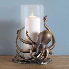 """SPI Home Aluminum Octopus Hurricane Candleholder 14""""H"""