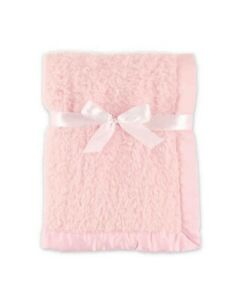 Baby Hudson Baby Sherpa Blankets with Matte Satin Trim in Pink Girl High Quality