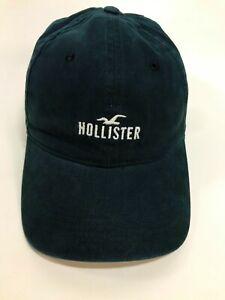 Hollister Soft Cotton Navy Blue Adjustable Strapback Baseball Hat Cap VTG VGC