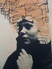 Luc Precio Cíclope esquizofrenia impresión firmada -/35 + Mau Mau o Banksy Adhesivo