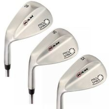 Ram Golf Pro Spin Stainless Wedge Set - 52, 56, 60 Wedges - Mens Left Hand