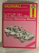 Vauxhall Astra and Belmont 1984-88 Owner's Workshop Manual, Minter, Matthew, Ver