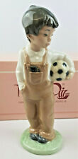 """NAO by LLADRO """"Wanna Play"""" Porcelain Figurine in Original Box-Boy with Football"""