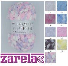 Woolcraft Pom Pom Baby Knitting Yarn 200g All Colours
