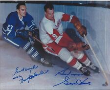 Gordie Howe & Frank Mahovlich Autographed 8 x 10