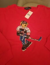 Authentic NWT Vintage Polo Bear Sweater Sweatshirt Ralph Lauren Polo Sport  XL