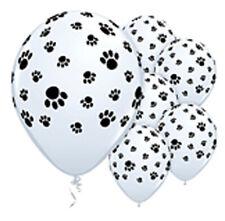 Paw Print Latex Balloons x 6 Paw Patrol Scooby Doo Farm Zoo Animals Dog Puppy
