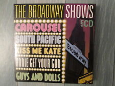 5 CD THE BROADWAY SHOWS (Carousel South Pacific Guys & Dolls Annie get Kiss me)