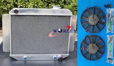 3 Row Aluminum Radiator & Fans for Holden HD HR HG HQ HJ HK HT LH LX 161 186 202