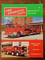 Fire Apparatus Journal Volume 5, Number 6, November-December 1988, Cuomo Keane