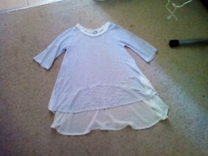 Ladies chiffon tunic top size L