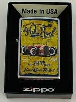 Zippo Bradford Lighter Vintage Hot Rod New In Box MAD in USA