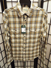 Men's Outdoor Life Plaid Long Sleeve Button Down Shirt Slim Fit Small NWT's