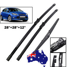 Front ( Pair )& Rear Windscreen Wiper Blades For Ford Focus LW LZ  2012 - 2018