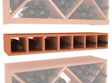 7 Bottle Conversion Cubby Wine Cellar Rack Kit in Premium Redwood. Free Shipping
