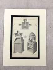 1880 Antique Marin Imprimé Binnacle Apparatus Navires Navigation Instruments