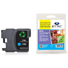 JET TEC B11C HIGH QUALITY REMANUFACTURED BROTHER LC1100 CYAN INK CARTRIDGE