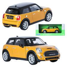 Welly NEX 1:18 NEW MINI HATCH Yellow Mini Car Display Miniature Car