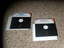 """2 MS-DOS PC Programs: MultiLink &  MultiLink Advanced on 5.25"""" disks"""