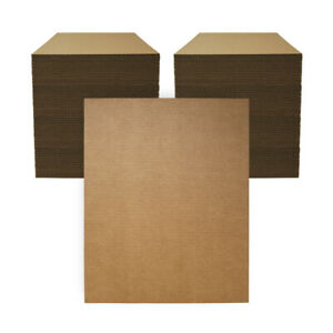 "200 - 16"" x 20"" Corrugated Cardboard Kraft Pads Inserts Sheet 32 ECT Made in USA"
