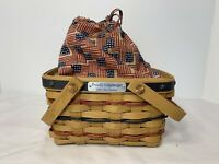 NEW 28610140 Longaberger Proudly American Ice Bucket Basket Liner Old Glory