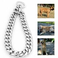 14-26'' 13mm Silver Stainless Steel Link Dog Choke Chain Pet Training Collars